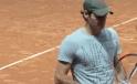 Roger beim Training